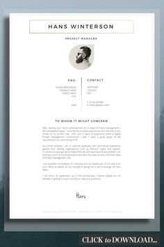 Creative CV Cover Letter Template - Resume Template Ideas of Resume Template - Get more creative with your CV Cover Letter make Recruiters notice you! Creative Cover Letter, Cover Letter Design, Cover Letter Example, Cover Letter For Resume, Cover Letter Layout, Cover Letters, Modern Resume Template, Business Plan Template, Resume Templates