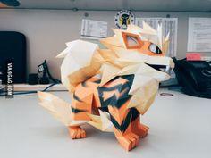 A student I teach makes papercraft Pokemon