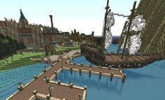 Harbor of the kingdom, minecraft