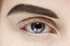 Kaila Hart's eye at Jean Paul Gaultier FW/2013 Backstage