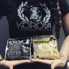 our most potent brownie. the black bar which is 1000mg (20dose) THC. korovas also come in 150mg, 250mg, 500mg. we carry chocolate chip, half dipped cookies, and brownies. #korova #potent #edible #budtender #cannabis #brownie #mood #420 #staymedicated