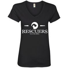 Strongest Women Dog Rescuers - Ladies V Neck