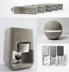 coffee machine by Shmuel Linski, Gayalux lamp by Xiral Segard, fragrance series by Alexa Lixfeld, USB flash drives by ShuChun Hsiao