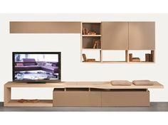 MDF TV wall system INTRALATINA   Storage wall - ROCHE BOBOIS