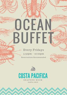 Seafood Restaurant Promotion A4 Flyer - Canva