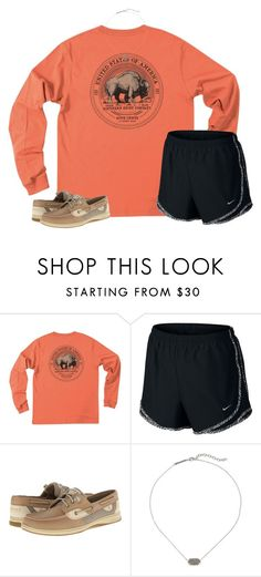 """Untitled #1558"" by southernstruttin ❤ liked on Polyvore featuring NIKE, Sperry and Kendra Scott"