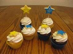 Star Themed Baby Shower Cupcakes