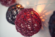 How to Make a Twine-Ball Light Garland