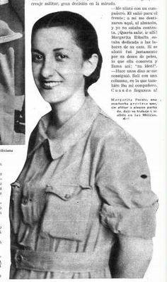 La imagen de la miliciana en la prensa. Suelen ser jóvenes, agraciadas y simpáticas, siempre con una bonita sonrisa.