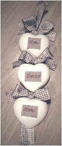 Cuori polvere di ceramica come targa fuoriporta