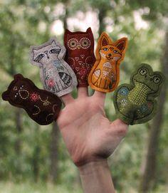Felt Finger Puppets http://embroideryonline.com/p-50092-felt-finger-puppets.aspx