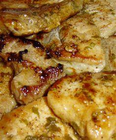 Basil pork chop recipe