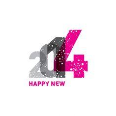 Happy New 2014 increasing numbers