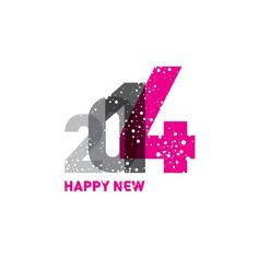 Happy New 2014 increasing numbers