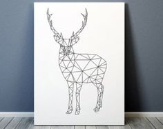 Resultado de imagen de silueta abstracta de animales con triangulos