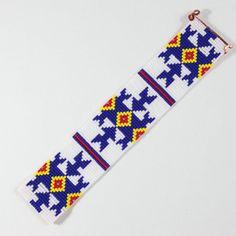 Flechas azules telar amistad pulsera Boho Bohemia por PuebloAndCo