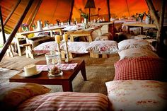 Marquee with a twist! Relaxed Giant tipi styling :), for your special occasion. Wonderful wedding idea!