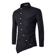 Men Shirt 2018 Button Irregular Men Casual Dress Shirt New Arrival Long Sleeve Slim Fit Quality Male Shirts camisa masculina XXL-cgabuy Casual Shirts For Men, Men Casual, Men Shirts, Shirt Men, Casual Pants, Mens Shirt Pattern, Chemise Fashion, T Shirt Sport, Style Casual