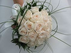 Browse pictures of wedding flower arrangements, bouquets, and centerpiece ideas by style, color Bouquet Designs for Weddings; All wedding bouquets are made up of several basic designs. Rosa Bouquet, Lily Bouquet Wedding, White Rose Bouquet, Rose Wedding, White Roses, Red Roses, Ivory Roses, Wedding Songs, White Bouquets