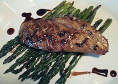 My HCG Recipes: Balsamic Chicken w/Grilled Asaparagus