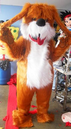 Shaggy Dog Mascot Costume Adult Costume by AdultMascotCostumes