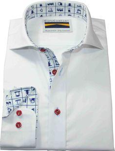 Overhemd, Delfsblauw.