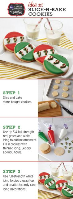 No time to do holiday baking from scratch?  Use slice and bake cookies and some of our easy decorating tips.