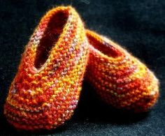 Free Knitting Pattern- Baby Slippers