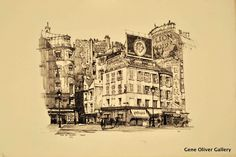 Samuel Chamberlain   Gene Oliver Gallery, Rue du Dragon, Paris! Lithograph, hand-signed in pencil by the Artist, Edition of 100 1924