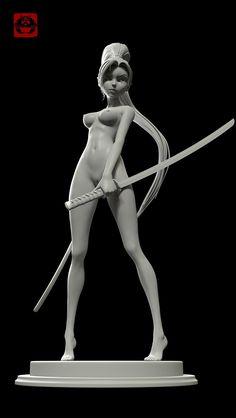 Girl Warrior 3D Art by hu zheng – cgvilla