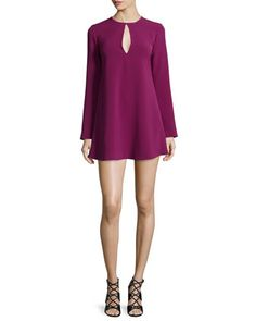 Brianna+Long-Sleeve+Mini+Dress+by+Elizabeth+and+James+at+Neiman+Marcus.