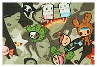 Tokidoki for LeSportsac Print Guide Spring 2006 Original Print (green on the inside) Original Black (Original Print on the inside) Summer 2006  Cammo Playground (orange on the inside) Cammo Playground Black (orange on the inside) Cammo Playground Olive (orange on the inside) Fall 2006 Citta Rosa (pink on…