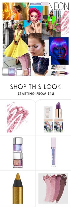 """""""Untitled #9"""" by saghar1 ❤ liked on Polyvore featuring beauty, Obsessive Compulsive Cosmetics, Teeez, Lime Crime, Urban Decay and Gucci"""