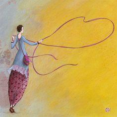 Happy Paintings, Beautiful Paintings, Beautiful Images, Watercolor Print, Watercolor Paintings, Papyrus Cards, Art Carte, Illustrator, Love Illustration