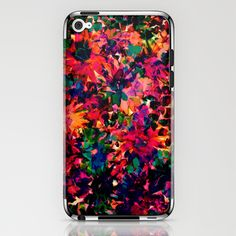 Neon Floral iPhone & iPod Skin