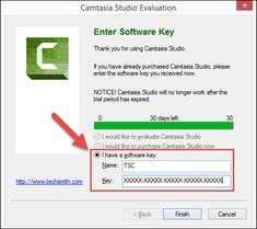 Camtasia (Windows): Entering Your License Key – TechSmith Support