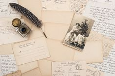 Old letters, vintage postcards by LiliGraphie on Creative Market
