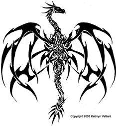 Dragon Tattoo design 1 by *ValliantCreations on deviantART