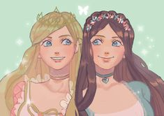 Princess Anneliese and Erika from Barbie as The Princess and the Pauper Fanart, Pretty Art, Cute Art, Barbie Drawing, Character Art, Character Design, Princess And The Pauper, Barbie Movies, Cartoon Shows