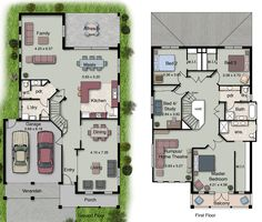 popular double storey home design definitely a dream home floor plans - Double Storey House Plans