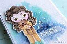 No-Line Distress Watercoloring Card