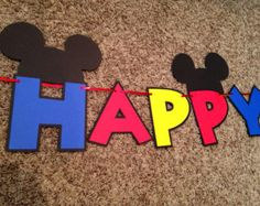 Mickey Mouse Clubhouse Banner Mickey Mouse by LisasPartyShoppe