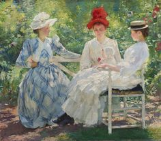 Edmund Charles Tarbell (1862-1938) Three Sisters, a Study in June Sunlight [1890] Oil on canvas, 89.22 x 101.92 cm Milwaukee Art Museum