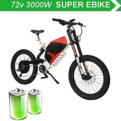 72V 3000W electric mountain bike front and rear damping soft tail all terrain electric mountain bike high power electric off-roa