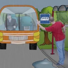 STEVE would like to travel. WATCH OUT for buses Steve! #englishforchildren…
