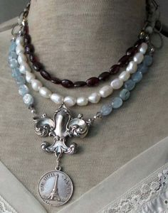 SONG OF THE SEINE - vintage assemblage necklace by The French Circus, $187.00
