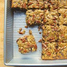 Zucchini Chocolate Chip Pecan Bars: King Arthur Flour - just substitute GF flour for the AP