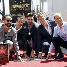 Backstreet Boys got their star on Hollywood Walk of Fame.   They deserve it.