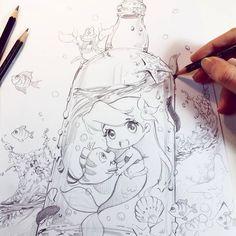 Ariele Sketch by Naschi