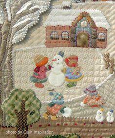 details of Four Seasons for Kirara by Ayako Kawakami, Chiba, Japan Quilt Inspiration: MERRY CHRISTMAS